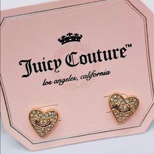 Juicy Couture gold heart stud earrings